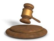Hammer von Gerechtigkeit lizenzfreie stockbilder