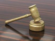 Hammer von Gerechtigkeit lizenzfreie stockfotografie
