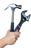 Hammer and Wrench Stock Images