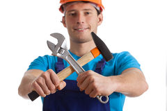 Hammer and wrench Stock Photography