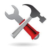 Hammer and Wrench Icon Royalty Free Stock Image