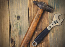 Hammer and wrench Royalty Free Stock Photo