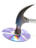 Hammered CD Royalty Free Stock Image