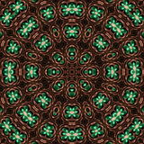 Hammered copper mandala Royalty Free Stock Images