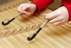 Hammered dulcimer musical Stock Images