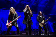 Hammerfall at Masters of Rock 2015 Royalty Free Stock Photos