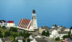Hammerfest Church (Hammerfest kirke), Norway Stock Images