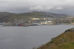 Hammerfest. Cloudy day in Hammerfest, northern Norway royalty free stock image