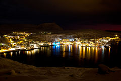 Hammerfest im Winter stockfotografie