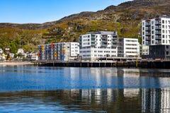 Hammerfest-Stadt, Finnmark, Norwegen Stockfoto