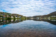 Hammerfest-Stadt, Finnmark, Norwegen Lizenzfreies Stockbild