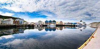 Hammerfest-Stadt, Finnmark, Norwegen Lizenzfreie Stockfotos