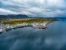 Hammerfest-Stadt, Finnmark, Norwegen Lizenzfreies Stockfoto