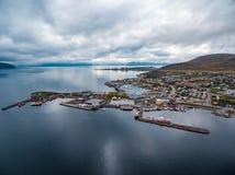 Hammerfest-Stadt, Finnmark, Norwegen Stockbilder