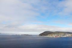 Hammerfest town Stock Photo