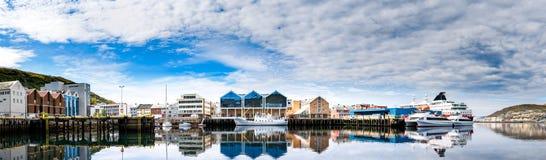 Hammerfeststad, Finnmark, Noorwegen stock foto