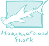 Hammerhead Shark in Blue Royalty Free Stock Photography