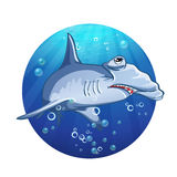 Hammerhead shark cartoon image Royalty Free Stock Images