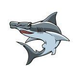 Hammerhead shark isolated vector mascot icon Royalty Free Stock Photography