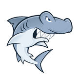 Hammerhead shark mascot Stock Images