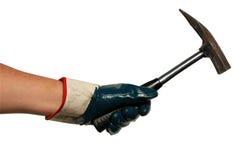 Hammering Hand Royalty Free Stock Image