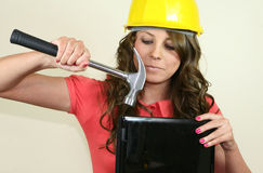 Hammering it Home stock images
