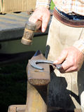 Hammering a Horseshoe Royalty Free Stock Photo