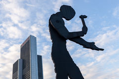 Hammering Man in Frankfurt Stock Images