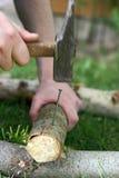 Hammering nail Stock Images