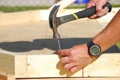 Hammering Nail Royalty Free Stock Image