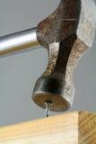 Hammering Nail Stock Photos