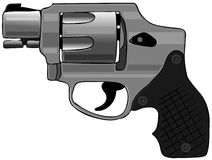 Hammerless revolver Royalty Free Stock Image