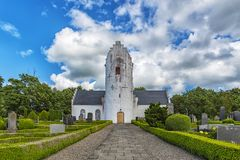 Hammerlov Church in Skane. Hammarlov Church is a medieval Lutheran church in the province of Scania, Sweden. It belongs to the Diocese of Lund Stock Images