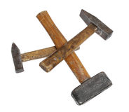 Hammers big large medium small wooden Stock Images