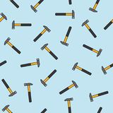 Hammers blue pattern Stock Photos