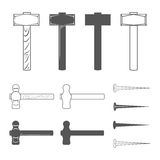 Hammers and hobnails Stock Photography