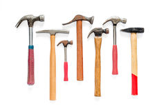 Hammers on isolated background Royalty Free Stock Photos