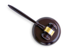 Hammers`s judiciary. Isolated on white background with clipping path royalty free stock images