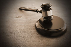 Hammers`s judiciary. On wooden background royalty free stock photo