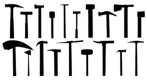 Hammers.A set of hammers. vector illustration