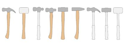 Hammers (work tools) Stock Photography