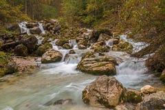 Hammersbach creek. Near Grainau, Garmisch Partenkirchen, in fall Royalty Free Stock Photography