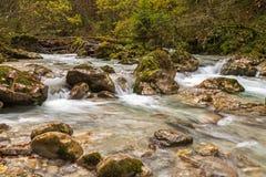 Hammersbach creek. Near Grainau, Garmisch Partenkirchen, in fall Stock Photos