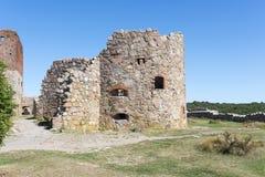 Hammershus城堡废墟 免版税图库摄影