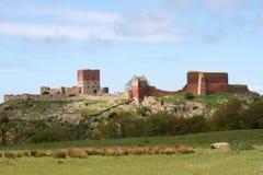 hammershus废墟 库存照片