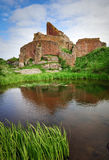 Hammershus castle on Bornholm island. Hammershus castle with small lake on Bornholm island, Denmark stock image