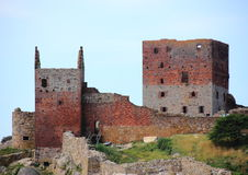 Hammershus Castle ruin main tower Stock Photos