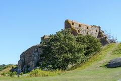 Hammershus castle ruins Royalty Free Stock Photos