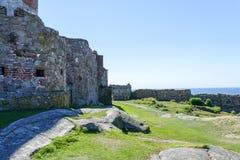 Hammershus castle ruins Royalty Free Stock Image