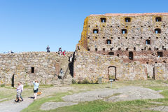 Hammershus castle ruins. Stock Photos